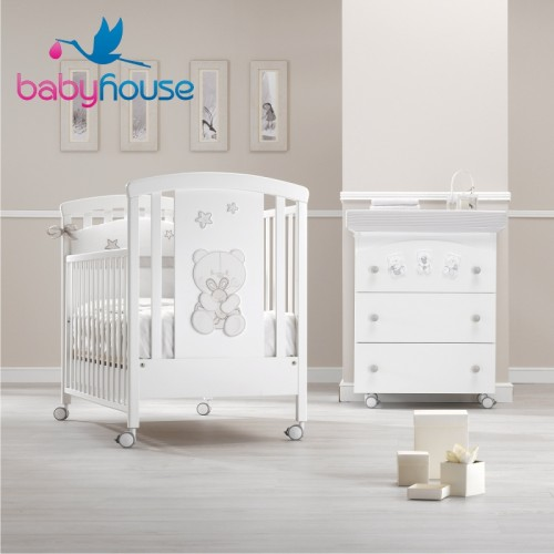 Erbesi Set Lettino,Bagnetto e Piumone Timidone Baby House